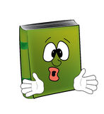 Surprised book cartoon Stock Photography