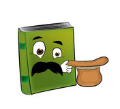 Surprised book cartoon Royalty Free Stock Image