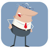 Surprised boss Royalty Free Stock Photography