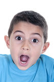 Surprised boy. Isolated on white background Stock Image