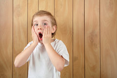 Surprised boy Stock Images