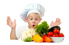 Surprised boy Chef Royalty Free Stock Photos