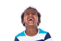 Surprised boy laughing out loud Stock Photos