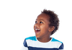 Surprised boy laughing out loud Royalty Free Stock Photo