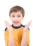 Surprised boy portrait Stock Images