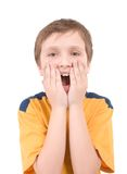 Surprised boy portrait Royalty Free Stock Photo