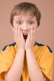 Surprised boy portrait Stock Photography