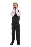 Surprised boy in suit Stock Photo