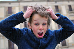 Surprised boy Stock Photo