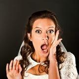 Surprised bride Stock Photo