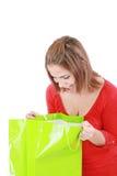 Surprised brunette woman Stock Photos
