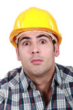 Surprised builder Stock Images