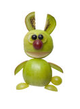Surprised bunny made of green fruits Stock Photography