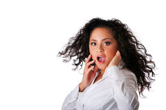 Surprised business Latina woman Royalty Free Stock Photography