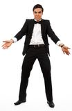 Surprised business man part his hands Stock Images