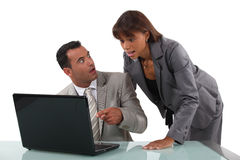 Surprised business people Royalty Free Stock Photography