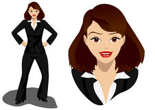 Surprised business woman Stock Image