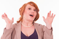Surprised business woman Stock Photos