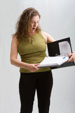 Surprised business woman Stock Images