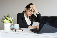 Surprised  business woman in office Stock Images