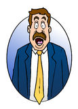 Surprised Businessman. This is a cartoon illustration of a very surprised business man Stock Photos