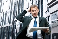 Surprised businessman Royalty Free Stock Images