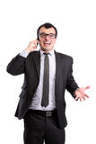 Surprised businessman Royalty Free Stock Image