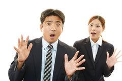 Surprised businessman and businesswomen Royalty Free Stock Photo