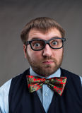 Surprised businessman Stock Photo