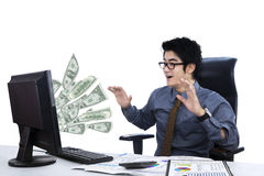 Surprised businessman isolated Royalty Free Stock Images
