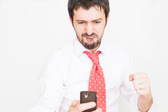 businessman with a phone Stock Photography