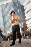 Surprised Businessman On Phone Call Stock Photos