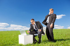 Surprised businessmen Stock Photography