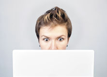 Surprised businesswoman Royalty Free Stock Photos