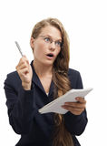 Surprised  businesswoman Stock Photos