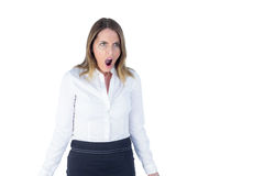 Surprised businesswoman being chocked Stock Photography