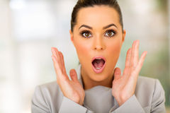 Surprised businesswoman Stock Images