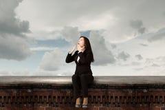 Surprised businesswoman Stock Images