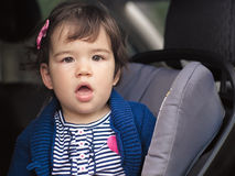 Surprised in Car Seat Royalty Free Stock Photos