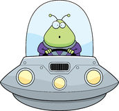 Surprised Cartoon Alien UFO Stock Image