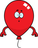 Surprised Cartoon Balloon. A cartoon illustration of a balloon looking surprised Stock Images