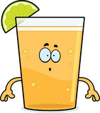 Surprised Cartoon Beer with Lime Stock Images