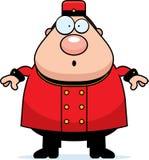 Surprised Cartoon Bellhop Royalty Free Stock Image