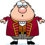 Surprised Cartoon Ben Franklin. A cartoon illustration of Ben Franklin looking surprised royalty free illustration