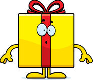 Surprised Cartoon Birthday Gift Stock Image