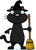 Surprised Cartoon Black Cat Witch Royalty Free Stock Photography