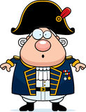 Surprised Cartoon British Admiral Royalty Free Stock Photos
