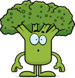 Surprised Cartoon Broccoli Royalty Free Stock Images
