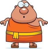 Surprised Cartoon Buddhist Monk Stock Photo