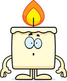 Surprised Cartoon Candle Stock Images